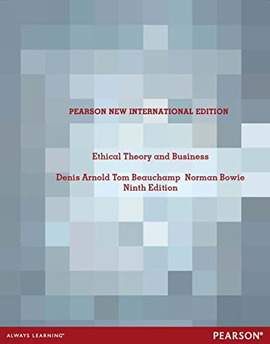 9781292026770: Ethical Theory and Business: Pearson New International Edition