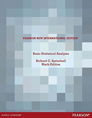 9781292026824: Basic Statistical Analysis