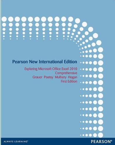 9781292027043: Exploring Microsoft Office Excel 2010 Comprehensive: Pearson New International Edition