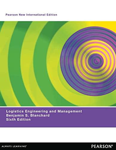 9781292027135: Logistics Engineering & Management: Pearson New International Edition