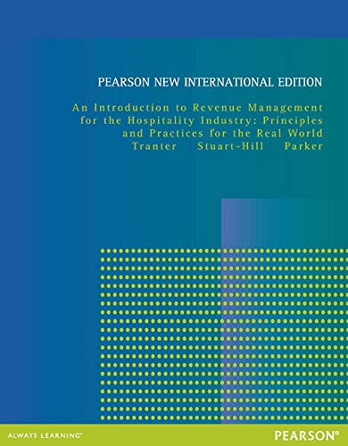 9781292027159: Introduction to Revenue Management for the Hospitality Industry: Pearson New International Edition:Principles and Practi