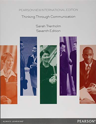 9781292027166: Thinking Through Communication: Pearson New International Edition