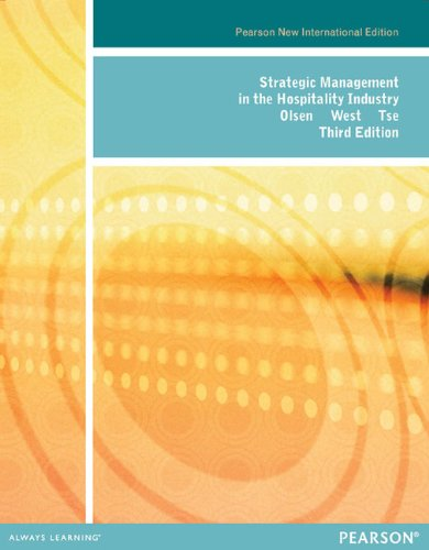 9781292027418: Strategic Management in the Hospitality Industry: Pearson New International Edition