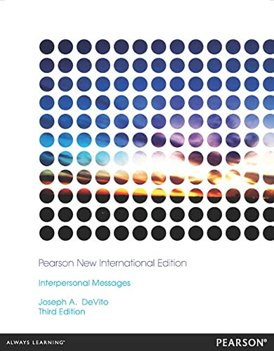 9781292027449: Interpersonal Messages: Pearson New International Edition