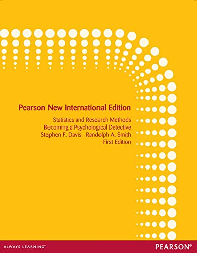 9781292027647: Introduction to Statistics and Research Methods: Becoming a Psychological Detective