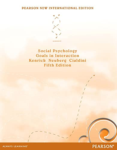9781292027807: Social Psychology: Pearson New International Edition: Goals in Interaction