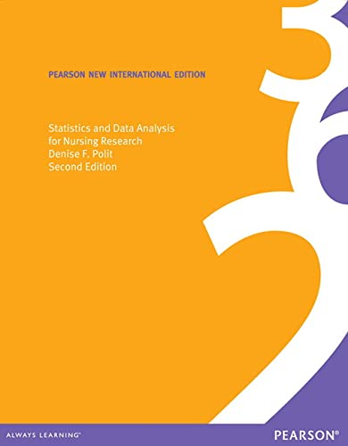 9781292027814: Statistics and Data Analysis for Nursing Research