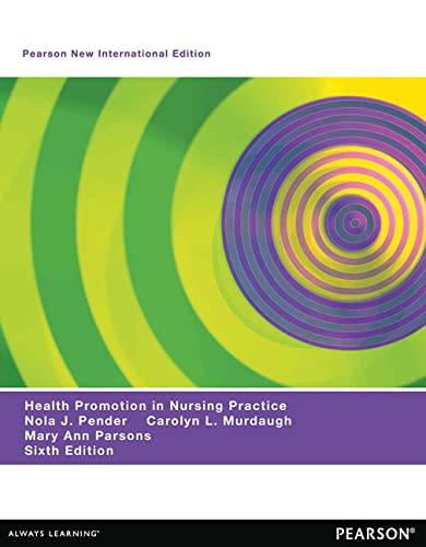 9781292027821: Health Promotion in Nursing Practice: Pearson New International Edition