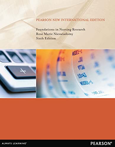 9781292027838: Foundations in Nursing Research: Pearson New International Edition