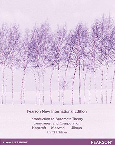 9781292039053: Introduction to Automata Theory, Languages, and Computation: Pearson New International Edition