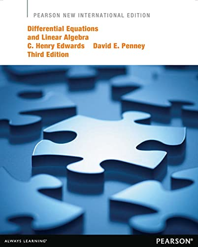 9781292039084: Differential Equations and Linear Algebra