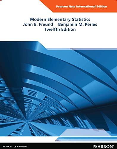 Modern Elementary Statistics (Mixed media product): John E. Freund, Benjamin M. Perles