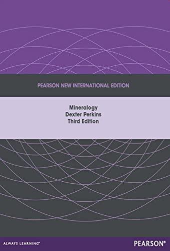 9781292039114: Mineralogy: Pearson New International Edition