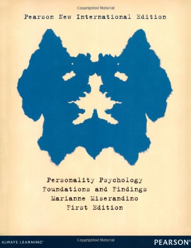 9781292039176: Personality Psychology: Foundations and Findings