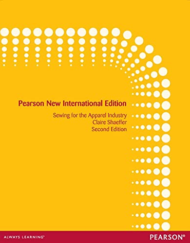9781292039466: Sewing for the Apparel Industry: Pearson New International Edition