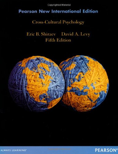 9781292039527: Cross-Cultural Psychology: Critical Thinking and Contemporary Applications, Pearson New International Edition