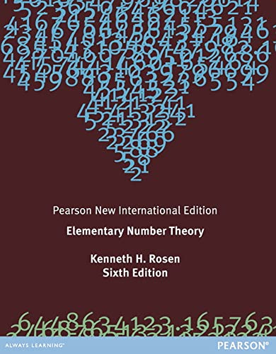 9781292039541: Elementary Number Theory: Pearson New International Edition