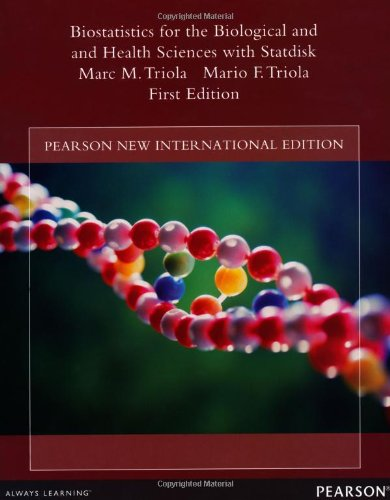 9781292039640: Biostatistics for the Biological and Health Sciences with Statdisk: Pearson New International Edition