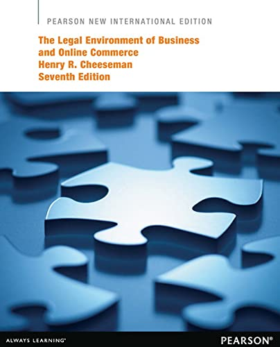 9781292039688: The Legal Environment of Business and Online Commerce