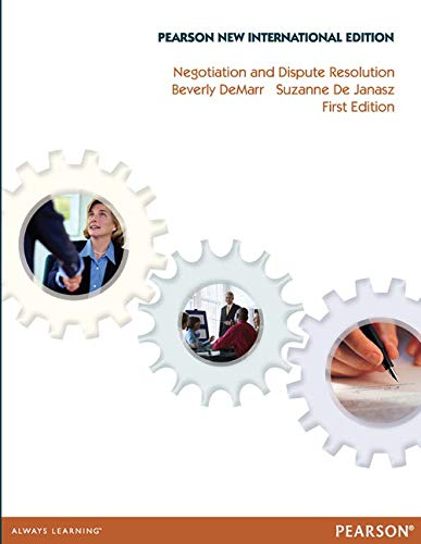 Negotiation and Dispute Resolution: Pearson New International: Suzanne C. de