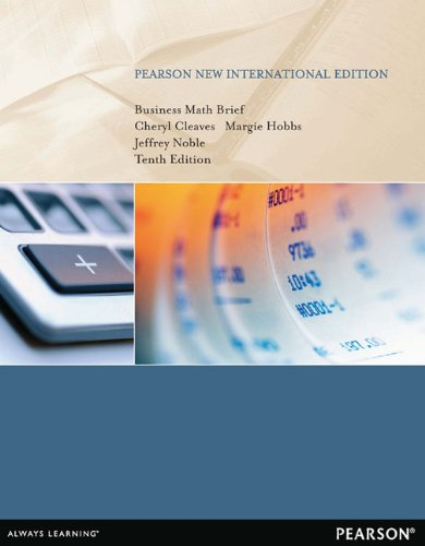 9781292039817: Business Math Brief: Pearson New International Edition