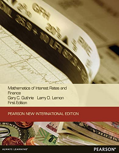 9781292039831: Mathematics of Interest Rates and Finance