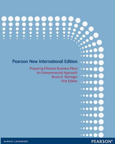 9781292039916: Preparing Effective Business Plans: An Entrepreneurial Approach