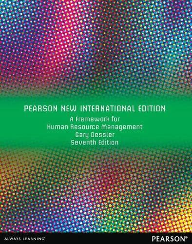 9781292039961: A Framework for Human Resource Management: Pearson New International Edition