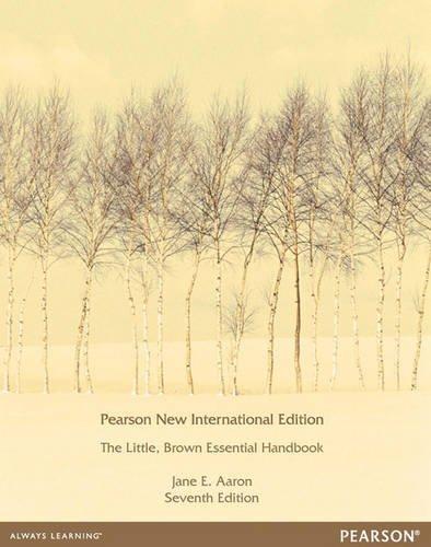 9781292040011: Little, Brown Essential Handbook