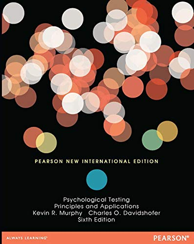 9781292040028: Psychological Testing: Pearson New International Edition: Principles and Applications