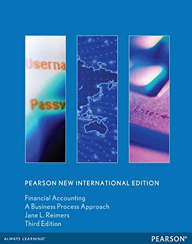 9781292040141: Financial Accounting: Pearson New International Edition: A Business Process Approach