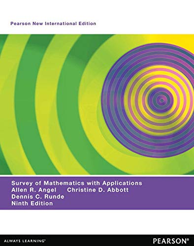 9781292040196: A Survey of Mathematics with Applications: Pearson New International Edition