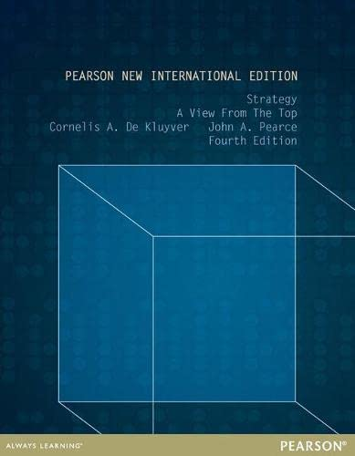 9781292040363: Strategy: Pearson New International Edition: A View From The Top
