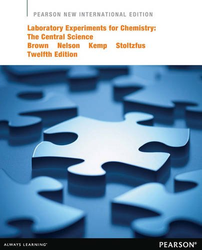 9781292040431: Laboratory Experiments for Chemistry: Pearson New International Edition: The Central Science