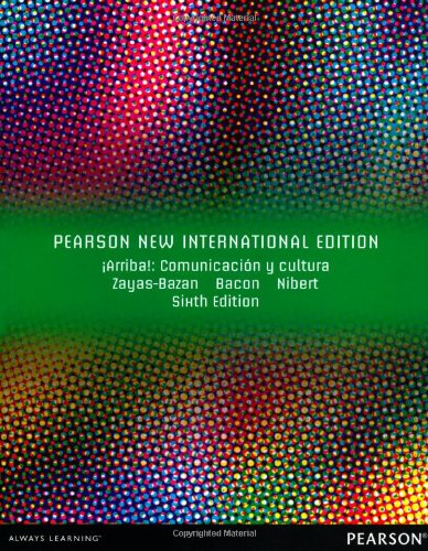 9781292040585: IArriba!: Pearson New International Edition:Comunicacion y cultura