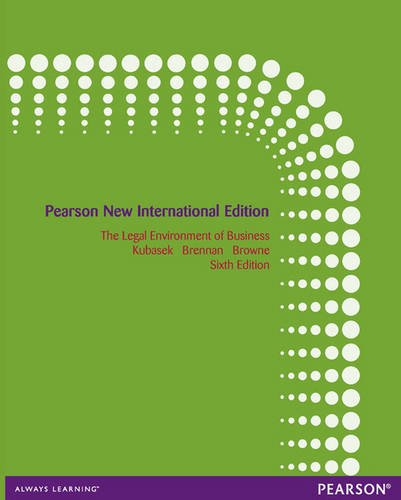 9781292040592: The Legal Environment of Business