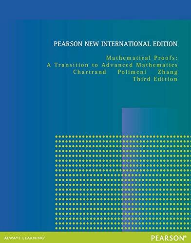9781292040646: Mathematical Proofs: A Transition to Advanced Mathematics