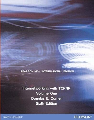 9781292040813: Internetworking with TCP/IP Volume One: Pearson New International Edition