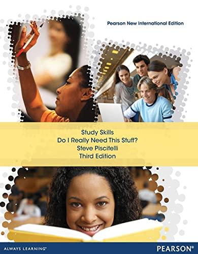 9781292040882: Study Skills: Pearson New International Edition: Do I Really Need this Stuff?
