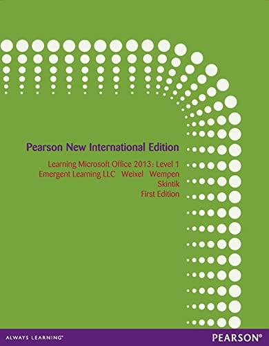 9781292040974: Learning Microsoft Office 2013: Level 1
