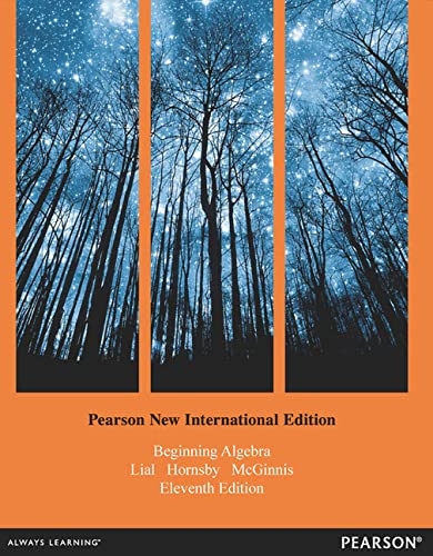9781292041018: Beginning Algebra: Pearson New International Edition
