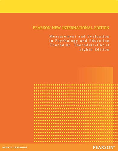 9781292041117: Measurement and Evaluation in Psychology and Education