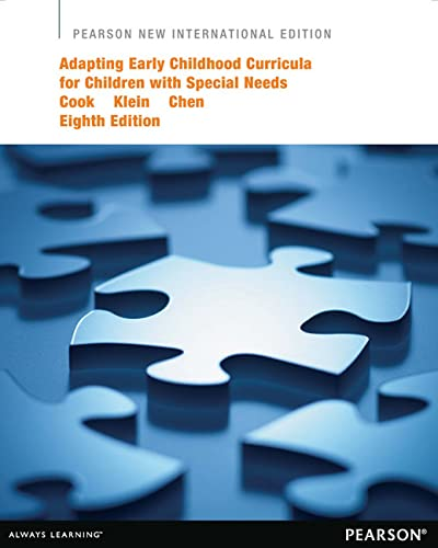 9781292041131: Adapting Early Childhood Curricula for Children with Special Needs: Pearson New International Edition