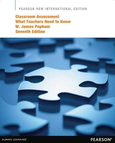 9781292041353: Classroom Assessment: Pearson New International Edition: What Teachers Need to Know