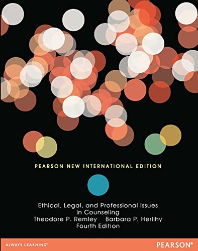 9781292041384: Ethical, Legal, and Professional Issues in Counseling: Pearson New International Edition