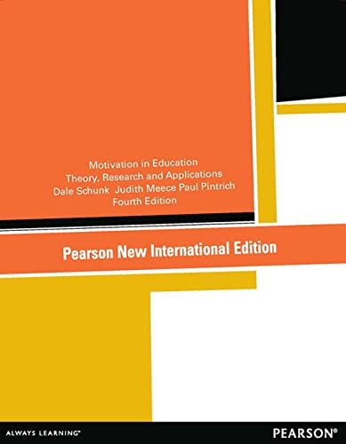 9781292041476: Motivation in Education: Theory, Research, and Applications
