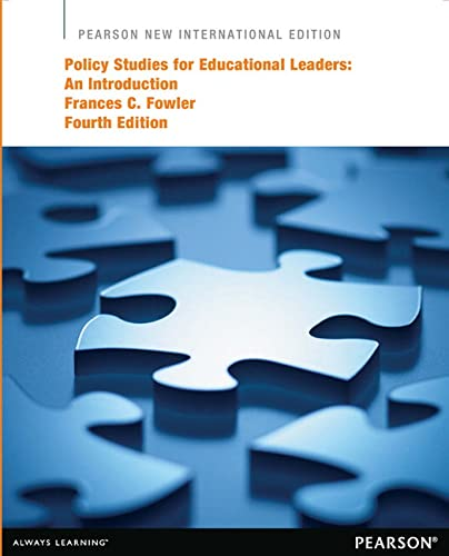 9781292041605: Policy Studies for Educational Leaders: An Introduction