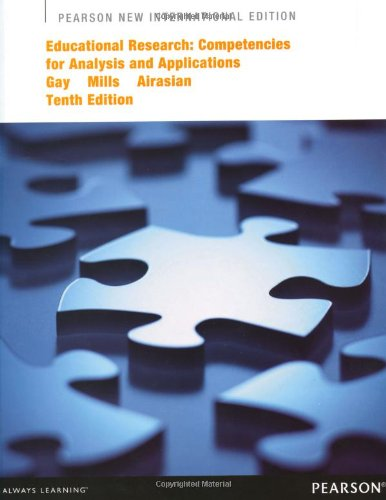 9781292041698: Educational Research: Pearson New International Edition Competencies for Analysis and Applications