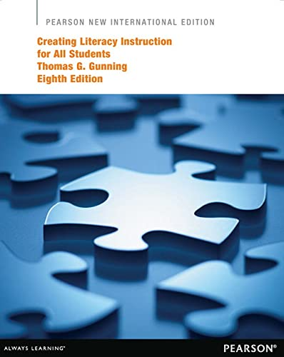9781292041735: Creating Literacy Instruction for All Students Pearson New International Edition
