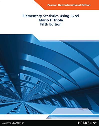9781292041766: Elementary Statistics Using Excel: Pearson New International Edition